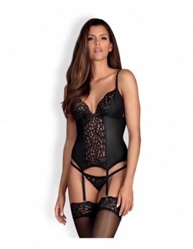 Laluna corset & string zwart
