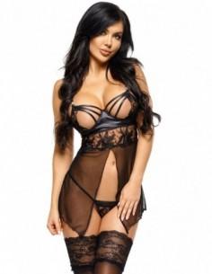 Shaina chemise & string zwart